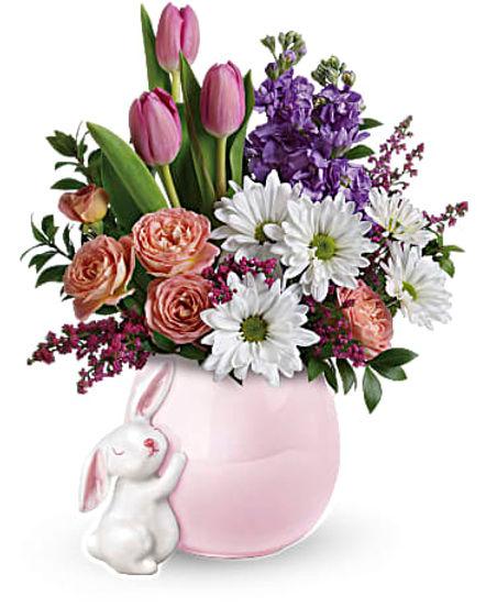 Teleflora's Send a Hug Bunny Love Bouquet