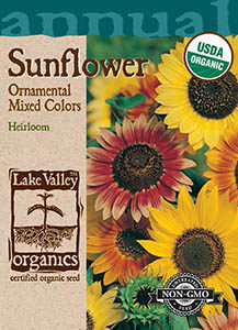 ORGANIC SUNFLOWER ORNAMENTAL DWARF MIXED COLORS  H