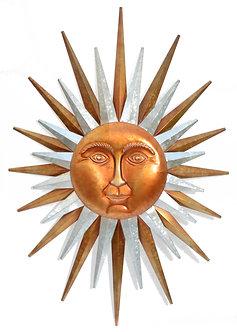 GALVANIZED SUN WALL DECOR