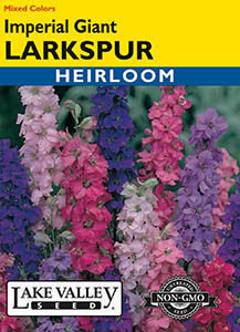 LARKSPUR IMPERIAL GIANT MIXED COLORS  HEIRLOOM