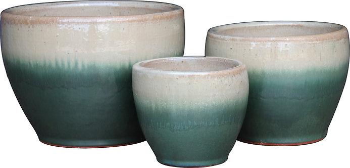 Toga Bell Planter - Cream Green Fade