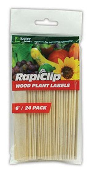 Luster Leaf 812 6 in. Wood Plant Labels 24 Pack