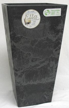 "Patio Essentials 19.5"" Black Ella Square Tall"