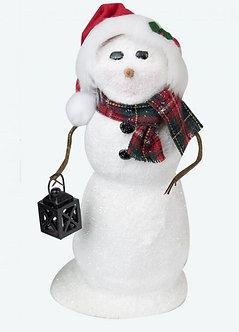 SNOWMAN W/ LANTERN