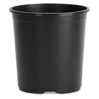Plastic Basic Flower Pot Black