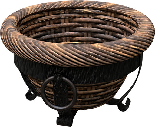 Panacea Products-Tuscan Resin Wicker Planter W/stand- Espresso Brown 14 Inch