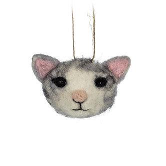 ORNAMENT CAT HEAD