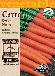 ORGANIC CARROT SCARLET NANTES  HEIRLOOM