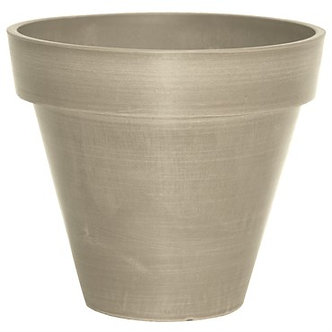 Algreen 10Dinx8inRnd Band Taupe Planter