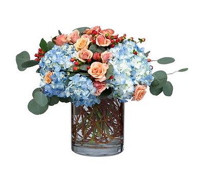 Rose & Hydrangea Cylinder