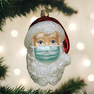 SANTA WITH FACE MASK