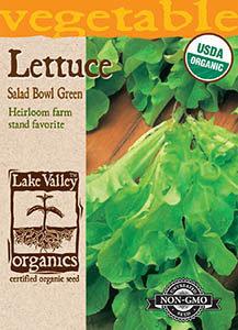 ORGANIC LETTUCE SALAD BOWL GREEN  HEIRLOOM