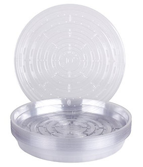 """Curtis Wagner Round Clear Vinyl 10"""" Plant Saucer"""