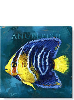 WALL ART ANGELFISH GICLEE