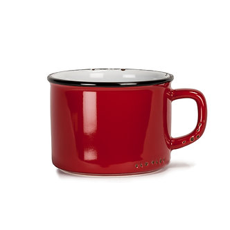 CUP CAPPUCCINO RED