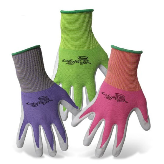 Boss Manufacturing Ladyfinger Nitrile Palm Gloves for Women Small Assorted