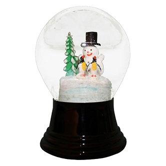 Snowglobe Med Snowman Penguins