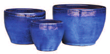 ADMIRAL BLUE TOGA BELL PLANTER 8.7in