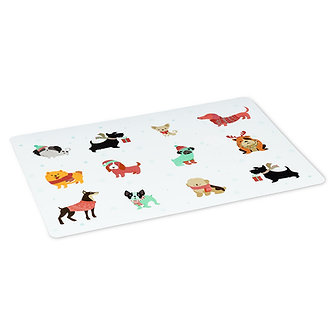 PLACEMAT WINTER DOGS