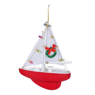 ORNAMENT DECORATED SAILBOAT