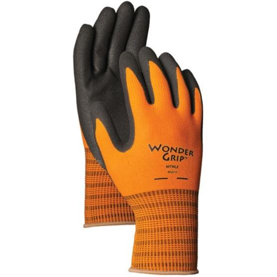Lfs Glove Wonder Grip Extra Tough Garden Gloves Large Sienna WG510L