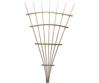 Wood Fan Trellis Natural 6'