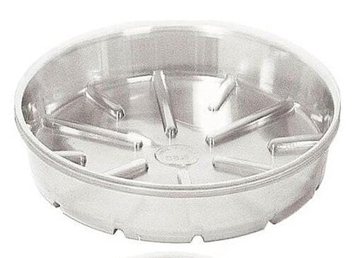 Bond Manufacturing 430200865 CVS008 8 in. Plastic Saucer Clear - Pack of 25