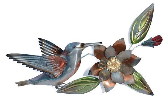METAL HUMMINGBIRD WALL