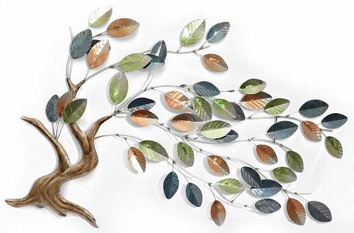 METALLIC TREE OF LIFE WALL