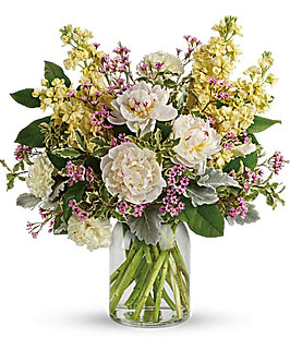 Serene Spring Peony Bouquet