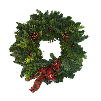 "Vintage Lantern Wreath 24"""