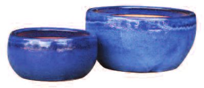 ADMIRAL BLUE TOGA BOWL PLANTER 9.4in