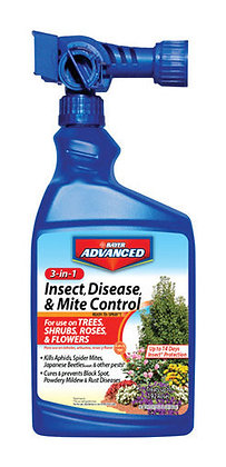 Bayer Advanced  32 Oz 3-in-1 Insect  Disease & Mite Control Hose End Sprayer