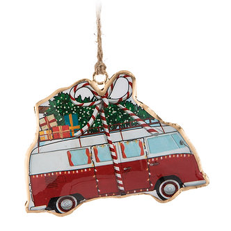 ORNAMENT CAMPER BUS W/TREE