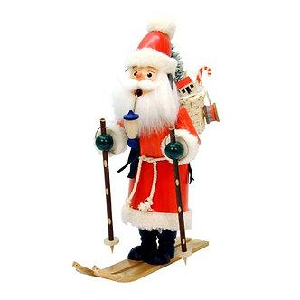 Incense Burner - Santa on Skis