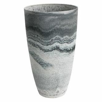Algreen  Marble Plastic Curved Tall Vase