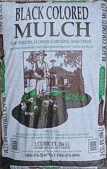 Black Shredded hardwood Mulch 2 cu ft
