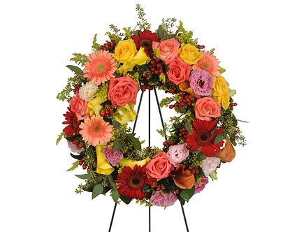 Memorial Wreath w/easel