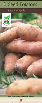 Seed Potatoes 'Rose Finn Apple' Box of 6