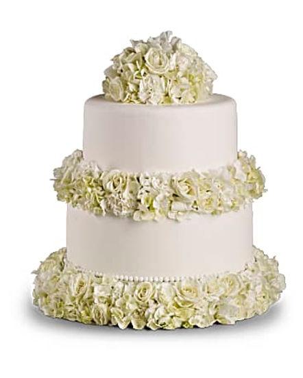 Sweet White Cake Decoration