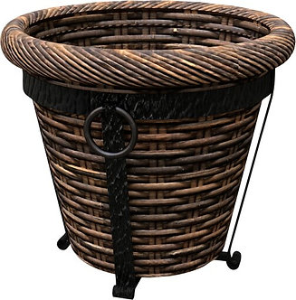Panacea Products 82333 Tuscan Resin Wicker Planter with Stand - 12 in.