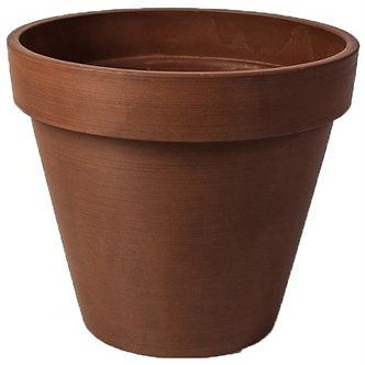 Algreen 10Dinx8inRnd Band Terracotta Planter