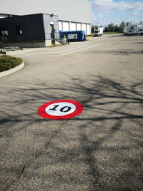 Marquages exterieurs parking securité ronap Lyon auvergne rhône alpes