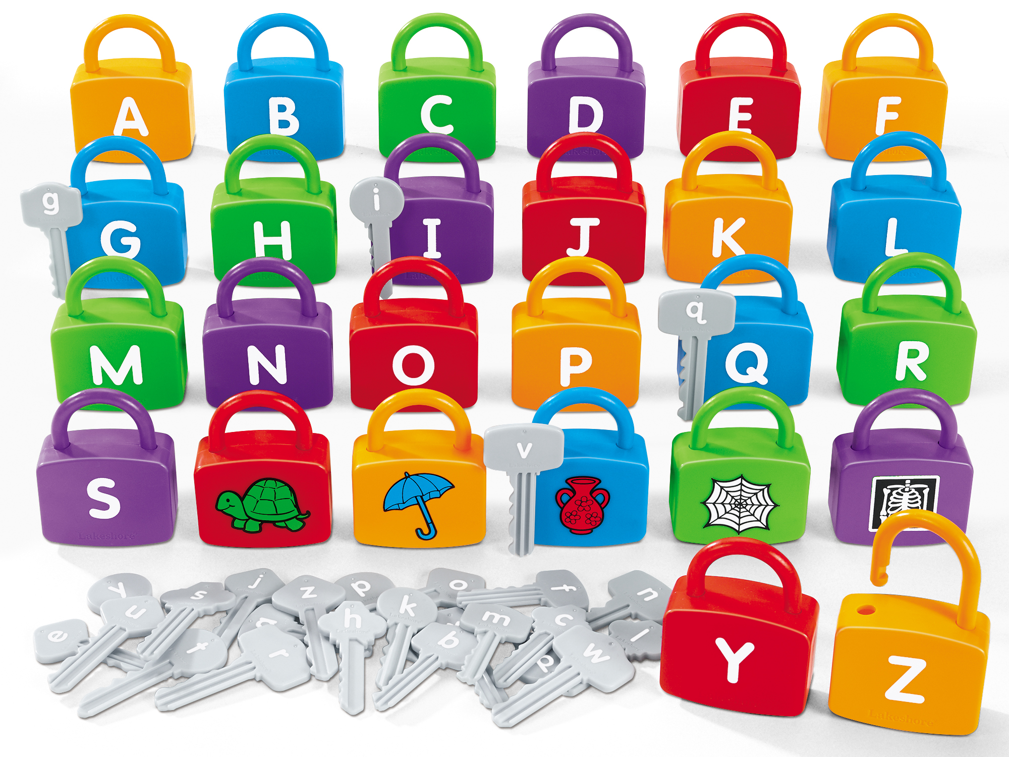 Alphabet Learning Locks by Lakeshore Learning Materials