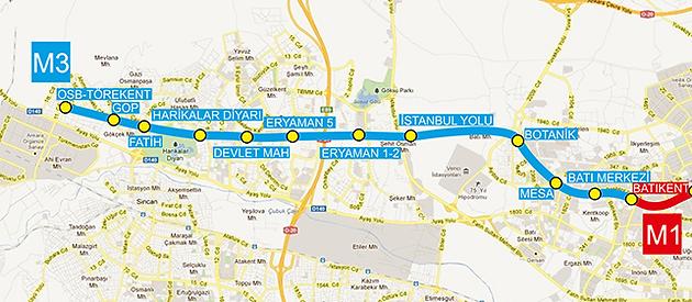Ankara Subway Map Ankara Real Estate Apartments for Sale