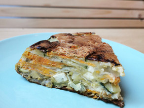 Frittata vegan courgette-patate douce