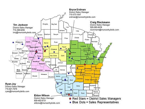 Wisconsin & Minnesota map