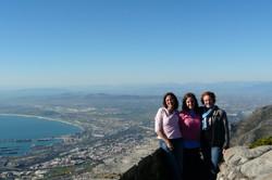 Garnett Gals and Mel atop Table Mtn