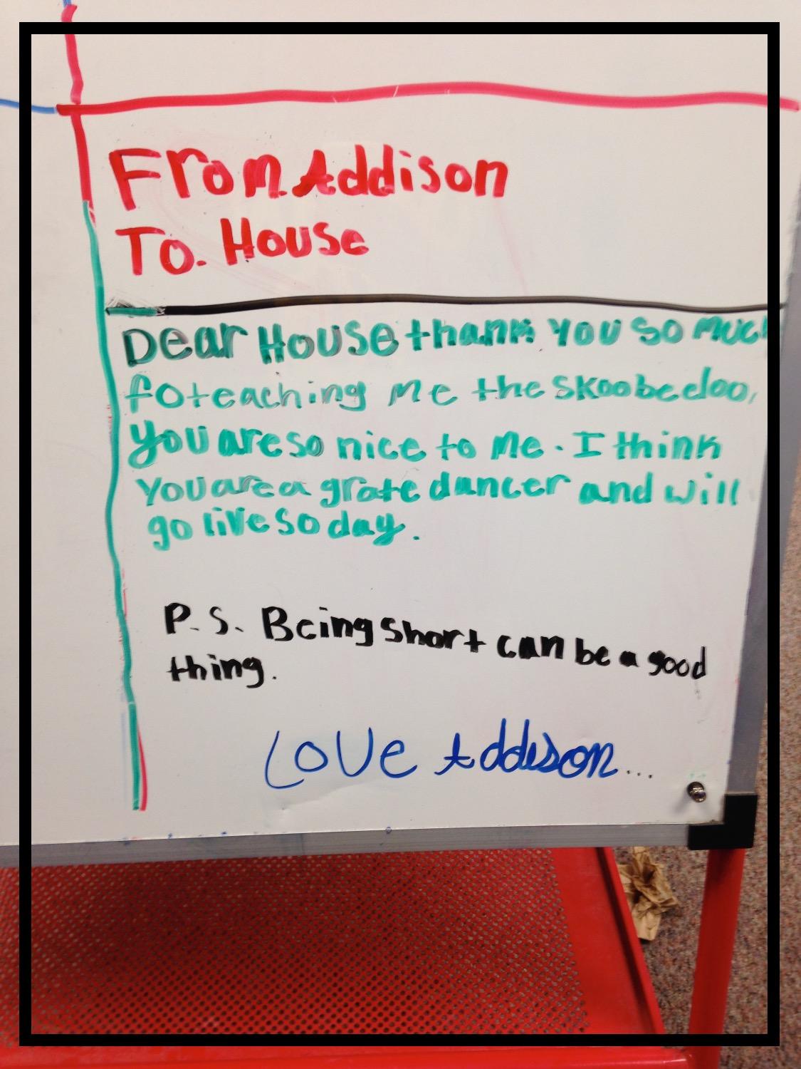 Thanks Addison