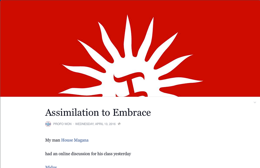 ASSIMILATION TO EMBRACE